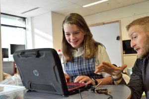 student laptop web